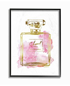 Glam Perfume Bottle Gold Pink Wall Art Collection