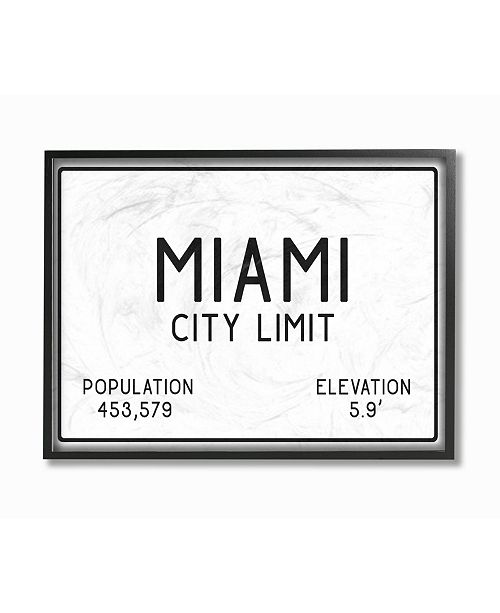 Macys Furniture Outlet Miami: Stupell Industries Miami City Limit Framed Giclee Art, 16