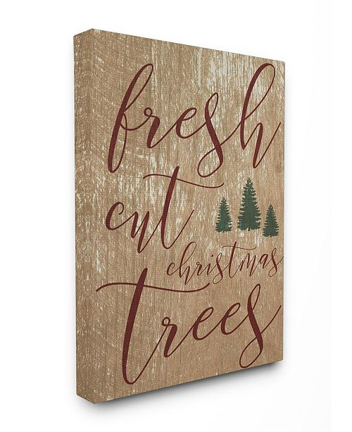 "Stupell Industries Fresh Cut Christmas Trees Tan Canvas Wall Art, 24"" x 30"""