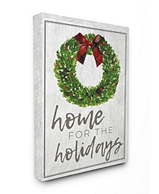 Home for the Holidays Wreath Bow Christmas Art Collection