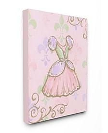 "The Kids Room Princess Dress with Fleur de Lis on Pink Background Canvas Wall Art, 16"" x 20"""