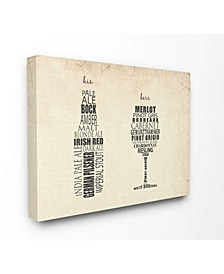 """Home Decor His and Hers Wine and Beer Kitchen Cavnas Wall Art, 16"""" x 20"""""""