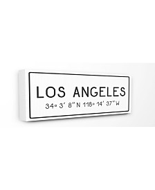 "Stupell Industries Plate City Coordinates Los Angeles Canvas Wall Art, 10"" x 24"""