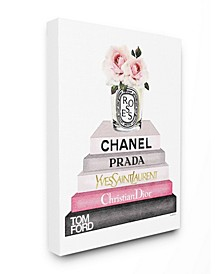 Book Stack Fashion Candle Pink Rose Art Collection