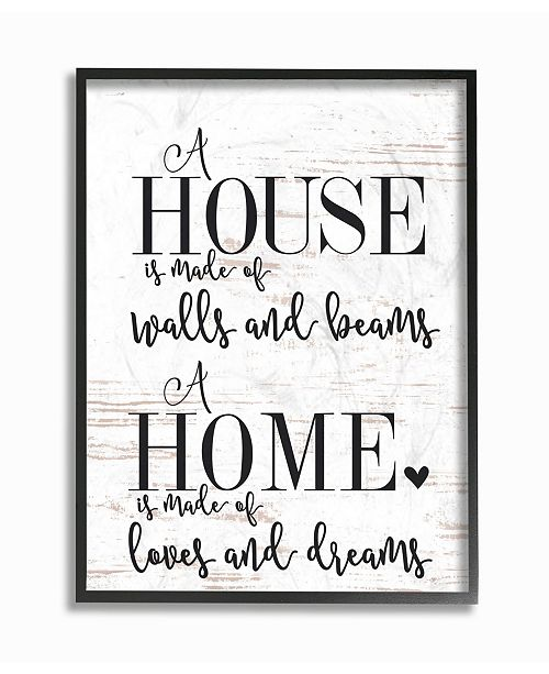 """Stupell Industries Home Loves and Dreams Framed Giclee Art, 16"""" x 20"""""""