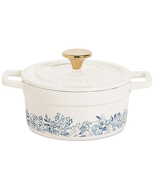 Martha Stewart Collection 2-Qt. Floral Cast Iron Dutch Oven, Created for Macy's
