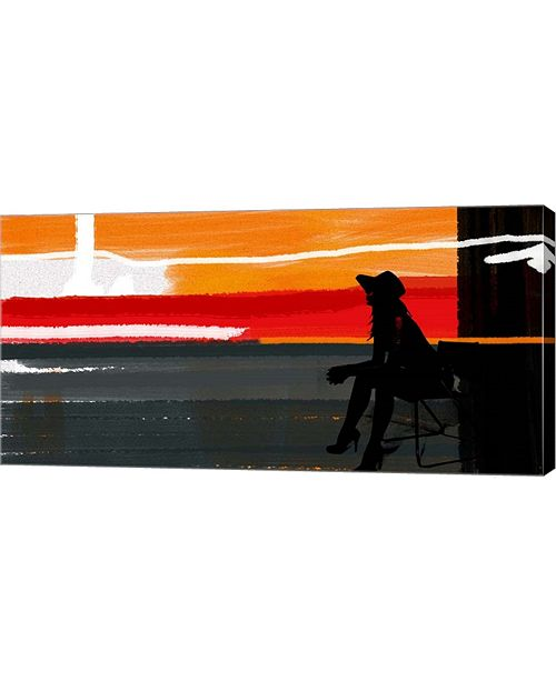 "Metaverse Sunset in Hamptons 1 by Naxart Canvas Art, 32"" x 16"""