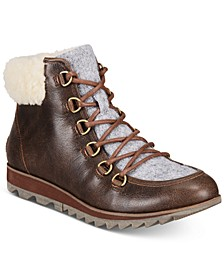 Women's Harlow Lace Cozy Lug Sole Boots