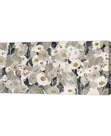 "Metaverse Velvety Florals Neutral by Silvia Vassileva Canvas Art, 31.75"" x 16"""