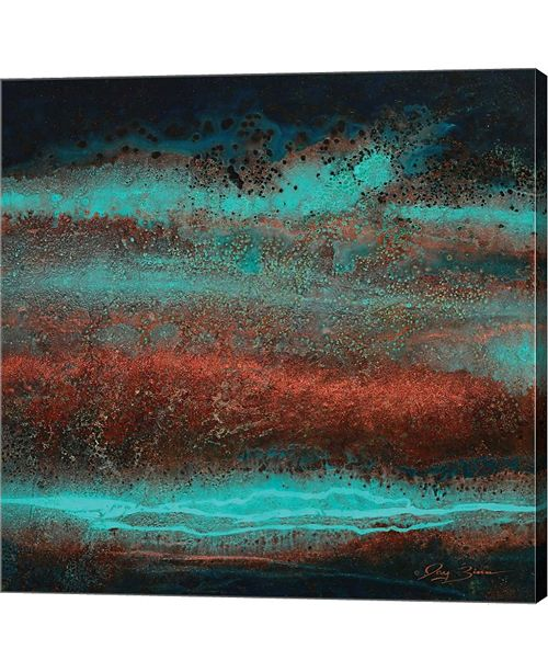 """Metaverse Electric Blue by Jay Zinn Canvas Art, 28"""" x 28"""""""