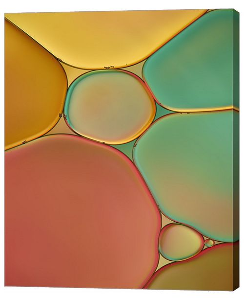 "Metaverse Red Yellow and Green Drops by Cora Niele Canvas Art, 29.25"" x 36"""