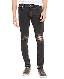 Men's Released Hem Ripped Skinny Jeans