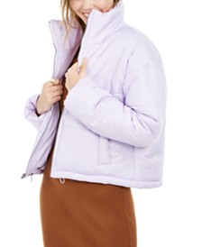 Celebrity Pink Juniors' Cropped Puffer Coat