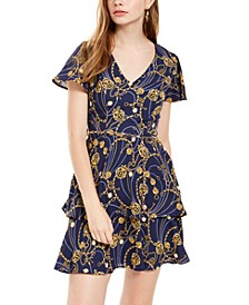Juniors' Chain-Belt Status Layered Dress