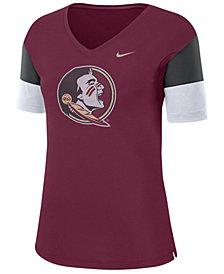 Nike Women's Florida State Seminoles Breathe V-Neck T-Shirt