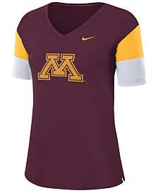 Nike Women's Minnesota Golden Gophers Breathe V-Neck T-Shirt