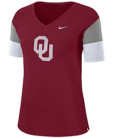 Women's Oklahoma Sooners Breathe V-Neck T-Shirt