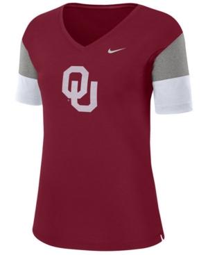 Nike Women's Oklahoma Sooners Breathe V-Neck T-Shirt