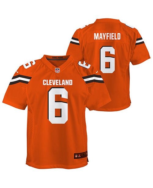 quality design f7cd2 e59f7 Big Boys Baker Mayfield Cleveland Browns Game Jersey
