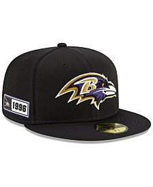 New Era Baltimore Ravens On-Field Sideline Road 59FIFTY-FITTED Cap