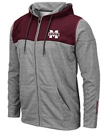 Colosseum Men's Mississippi State Bulldogs Nelson Full-Zip Hooded Sweatshirt