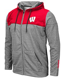 Men's Wisconsin Badgers Nelson Full-Zip Hooded Sweatshirt