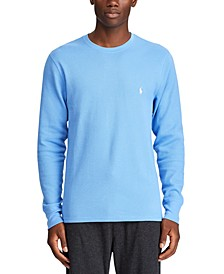 Men's Waffle-Knit Thermal Pajama Shirt