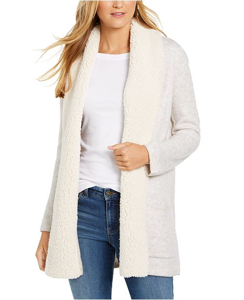 Style & Co Petite Sherpa Cardigan, Created For Macy's