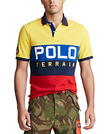 Men's Logo Terrain Knit Classic Fit Polo Shirt