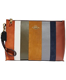 Patchwork Stripes Large Charlie Pouch