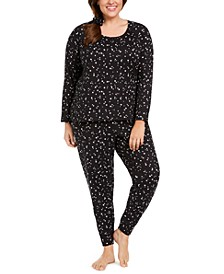 Printed Pajamas & Scrunchie Set, Created For Macy's