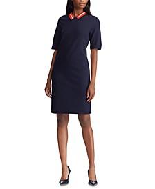Short-Sleeve Ponte Shift Dress
