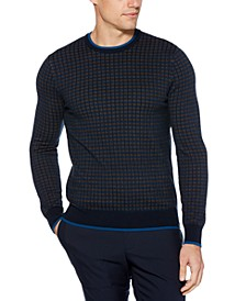 Men's Regular-Fit Grid Sweater