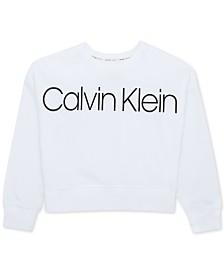 Calvin Klein Performance Big Girls Logo-Print Sweatshirt