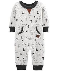 Carter's Baby Boys Bear-Print Fleece Jumpsuit