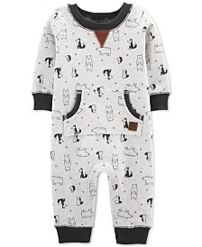 Carter's Baby Boys Bear-Print Fleece Jumpsuit