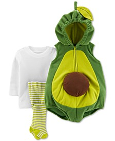 Baby Boys & Girls 3-Pc. Little Avocado Costume