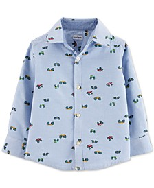 Baby Boys Cotton Monster Truck Oxford Button-Up Shirt