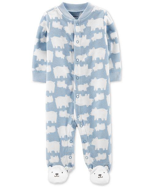 Carter's Baby Boys Bear Snap-Up Fleece Coveralls