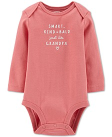 Baby Girls Cotton Just Like Grandpa Bodysuit