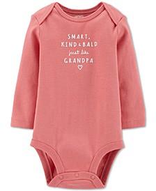 Baby Girls Cotton Just Like Grandpa Bodysuit