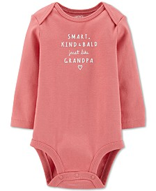 Carter's Baby Girls Cotton Just Like Grandpa Bodysuit