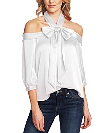 Bow Halter 3/4-Sleeve Top