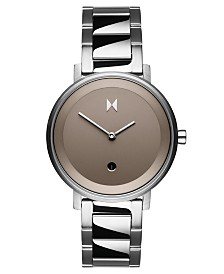 MVMT Signature II Cloud Silver Stainless Steel Bracelet Watch 34mm