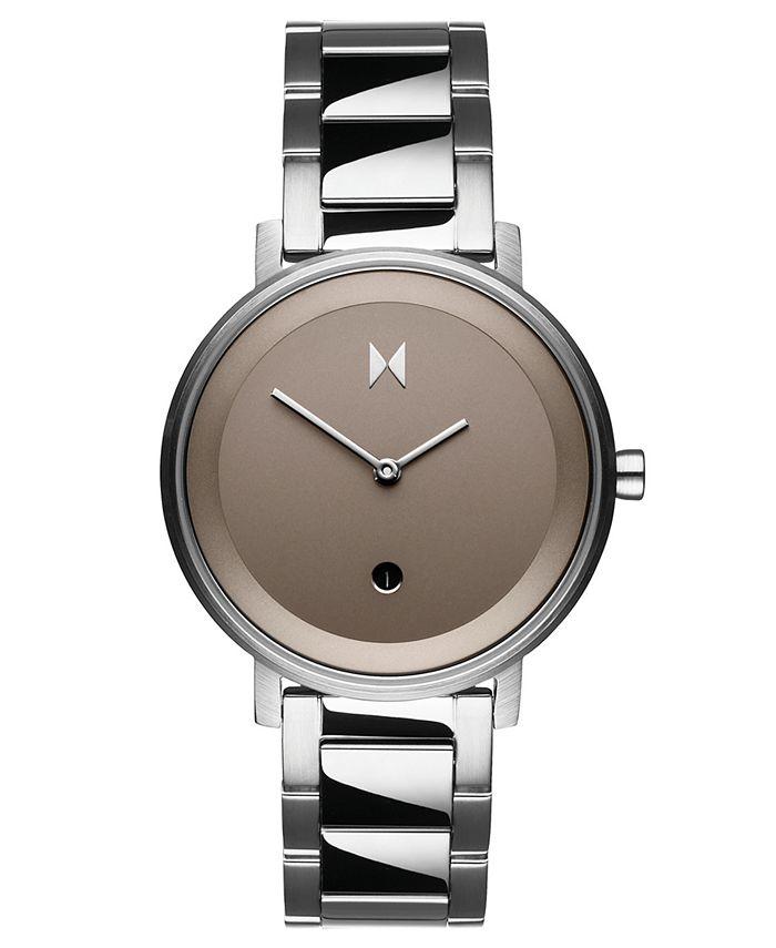 MVMT - Women's Signature II Cloud Silver Stainless Steel Bracelet Watch 34mm