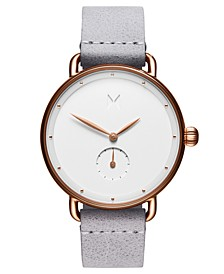 Bloom Ghost Iris Gray Leather Strap Watch 36mm