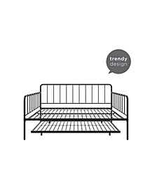 Arya Metal Full Daybed and Twin Trundle Set