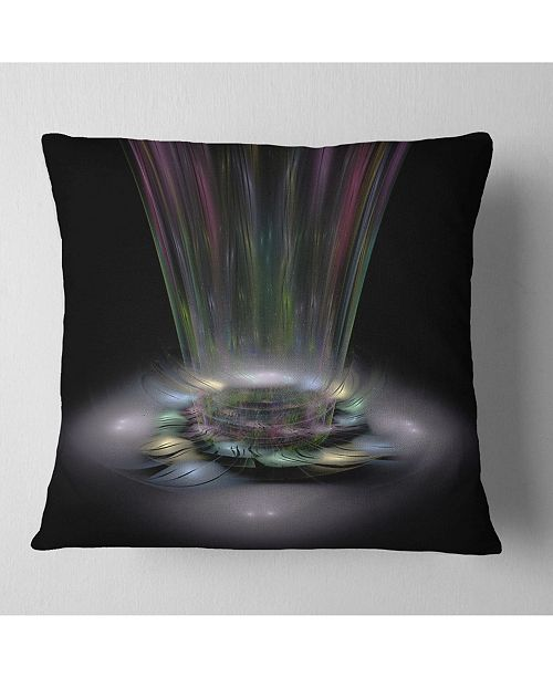"Design Art Designart Shiny Colorful Abstract Flower Theme Flower Throw Pillow - 16"" X 16"""