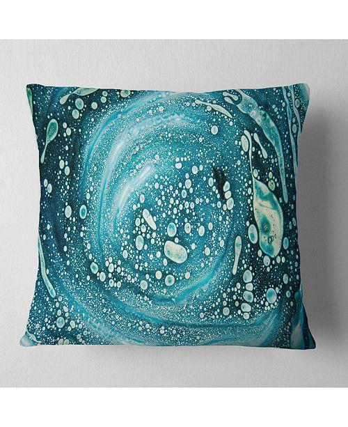 """Design Art Designart Precious Blue Fabulous Pattern Abstract Throw Pillow - 18"""" X 18"""""""