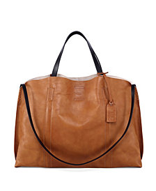 Old Trend Forest Island Leather Tote Bag